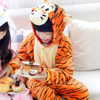 Baby Unisex Animal Pajamas Cosplay Costume Onesie Kid Sleepwear Tiger - intl