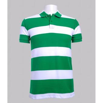 BENCH- BIL1679C Men's Striped Polo Shirt (White)