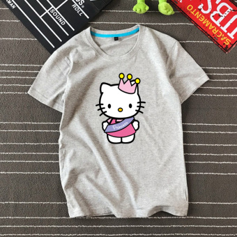 BF European and American summer style short sleeved cat (Hello kitty cat/gray T/)
