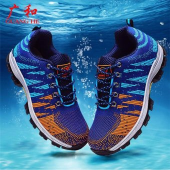big size men breathable mesh steel toe cap work safety shoes outdoor climb hiking tooling ankle boots site factory dress protect with size 36-46 - intl