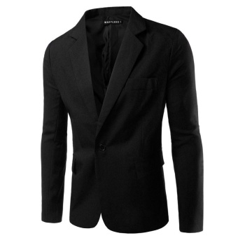black NEW Mens Fashion Brand Blazer British's Style casual Slim Fit suit jacket male Blazers men coat Terno Masculino Plus Size M-3XL - intl