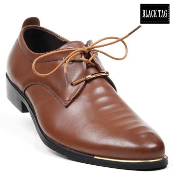 Black Tag Lincoln 58-1 Formal leather Shoes for Men (Brown) Price Philippines