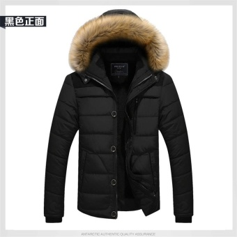 black Winter Jacket Men Casual Cotton Thick Warm Coat Men's Outwear Parka NEW Plus size 4XL Coats Windbreak Snow Military Jackets - intl