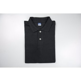 Blue Corner Men's Plain Polo Shirt (Black)