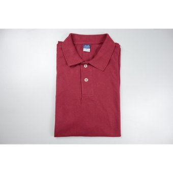Blue Corner Men's Plain Polo Shirt (Maroon)
