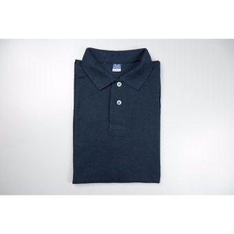 Blue Corner Men's Plain Polo Shirt (Navy Blue)