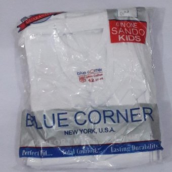 Blue Corner Sando Kids Plain White size 12 for 6 to 8 yrs old set of 6's