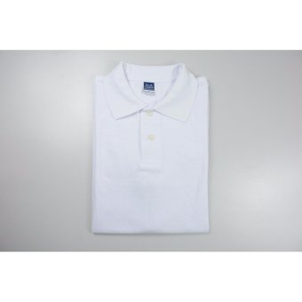 Blue Corner Women's Plain Polo Shirt (White)