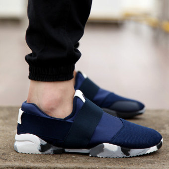 The young man slip-on shoes autumn canvas shoes Blue Blue