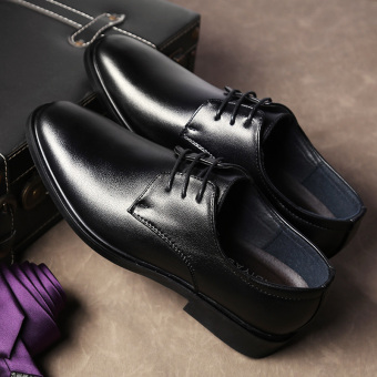 The British Black breathable spring shoes leather shoes LOFTEX black
