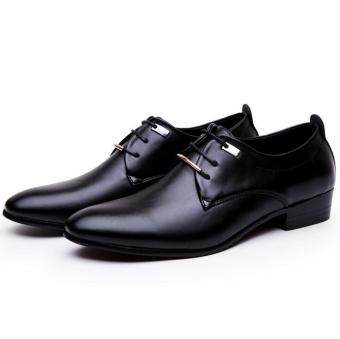 The British Leather Men pointed Shoes Men shoes Black Black