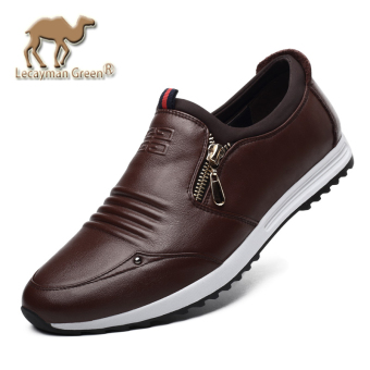 The British Leather Spring and Autumn Men men's casual leather shoes Deep Brown Deep Brown
