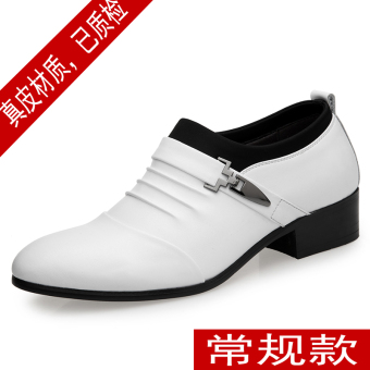 The British Leather white men shoes leather shoes White 2677 flat heel Models