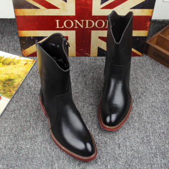 The British Men workwear autumn Men shoes Martin boots Black normal version Black normal version