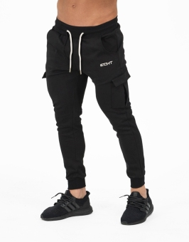 Brother muscle fitness dog casual sweatpants (Black)