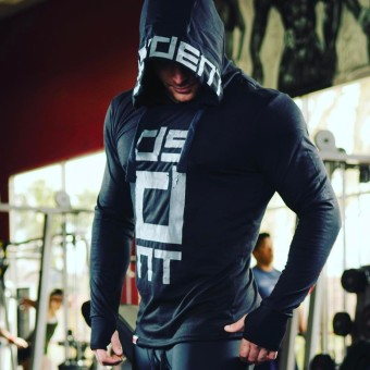 Brother muscle fitness hoodie (Black)