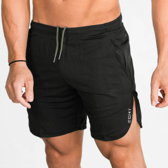 Brother muscle fitness summer thin I shorts (Black)