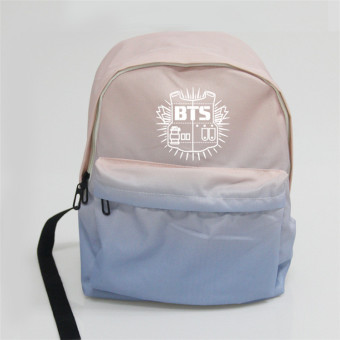 BTS canvas gradient color bullet-proof celebrity inspired student school bag backpack (BTS Guarda)