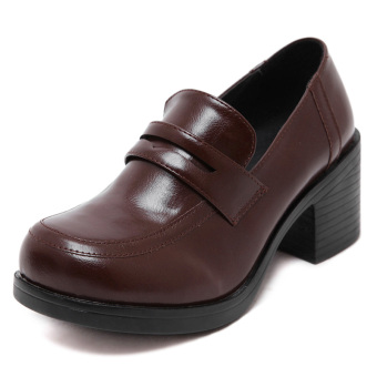 Bullock British style Spring and Autumn paragraph shoes (Deep Brown)