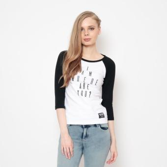 Bum Ladies Black Army Tee (White Black)