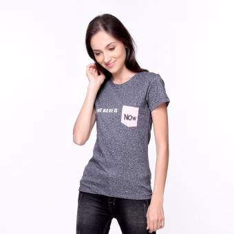 Bum Ladies Short Sleeves Tee with Pocket (Acid Black White)