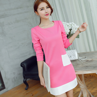 Caidaifei spring and summer New style Slim fit knit dress (Light rose) (Light