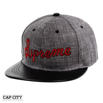 Cap City Hip Hop SUPREME Embroidery Snapback Cap (Red)