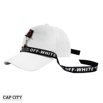 Cap City Korean Style with General Badge Pendant and Off White Lace Design Baseball Cap (White) Price Philippines