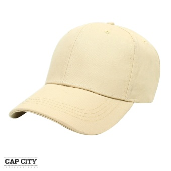 Cap City Plain Adjustable Street Casual Baseball Cap (Cream)