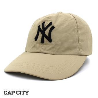 Cap City Snapback NY New York Yankees Plain Sports Cap (Cream)