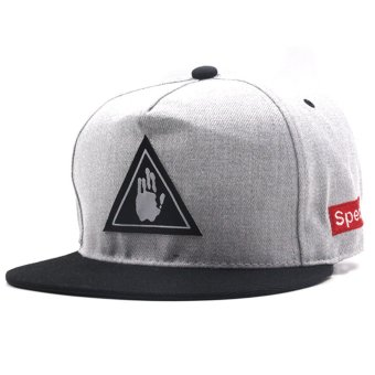 Cap City Unisex Hip Hop Hands Off Snapback (Gray)