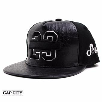 Cap City Unisex Hip Hop JAMES 23 Snapback (Black)