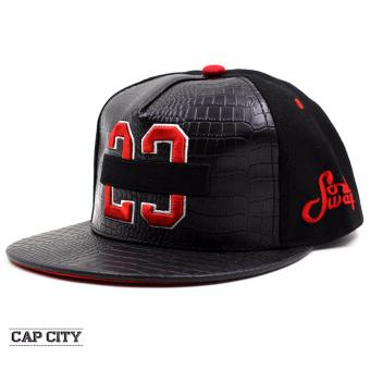 Cap City Unisex Hip Hop JAMES 23 Snapback (Red)
