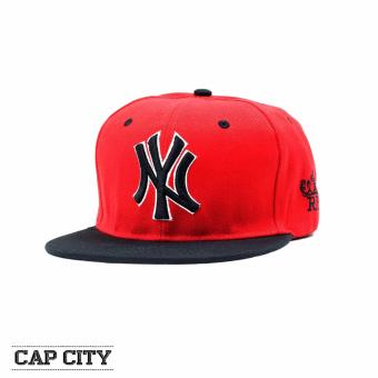 Cap City Unisex Hip-hop Snapback NY Real New York Yankees BaseballCap (Red/Black)