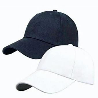 Cap Republic Plain baseball cap (black & white) set