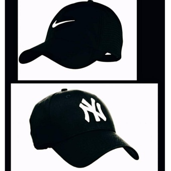 Cap set of Ni-ke black & NY black