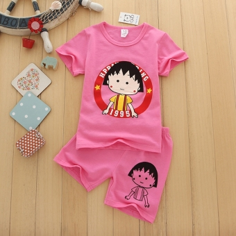 Cartoon New style Japanese-style ball children's clothing (Color Mix & Match (6 sets general hair two, color))