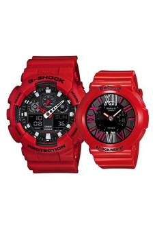 Casio G-Shock and Baby-G Couple Red Resin Strap Watch GA-100B-4A/BGA-160-4B Price Philippines