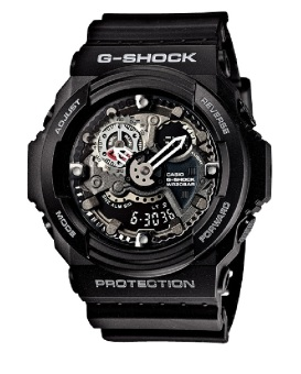Casio G-Shock Men's Black Resin Strap Watch GA-300-1