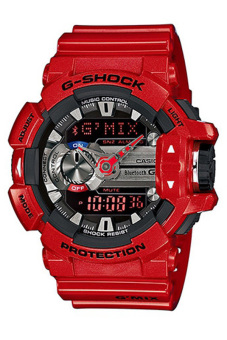 Casio G-Shock Men's Red Resin Strap Watch GBA-400-4A