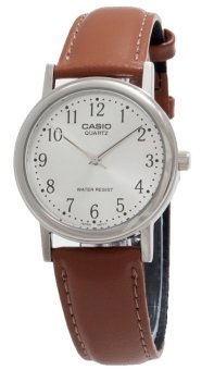 Casio Men`s Brown Leather Strap Watch MTP-1095E-7BDF