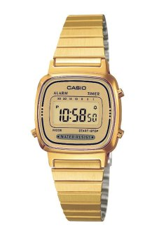 Casio Vintage Womens Gold plated stainless steel Watch LA670WGA-9DF