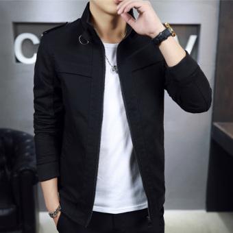 style autumn Slim fit on the casual jacket Black Men Clothing Jackets Coats Bomber Jackets
