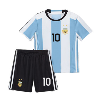 caxa 2016 Argentina Home Messi 10 Football Kit Soccer Kids Jersey& Short - intl Price Philippines