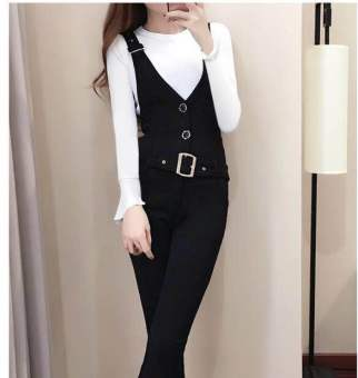 Chic women Spring Autumn New style pants jeans ([Long] Top + pants)