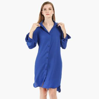 Coco Cabana Rayon Shirt Dress (Royal Blue) Price Philippines