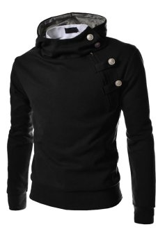 Cocotina Man Hoodie Hooded Long Sleeve Sweatshirt Sweater TopsJacket Coat Outwear (Black)