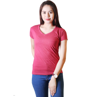 Cotton Republic Anastasia V-Neck Soft Top Blouse (Hot Pink)