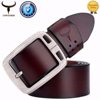 COWATHER 100% Cow Leather Belts For Men - Mens Cow Genuine Leather Belt for Dress & Jeans - Big & Tall Size - Great Price Philippines