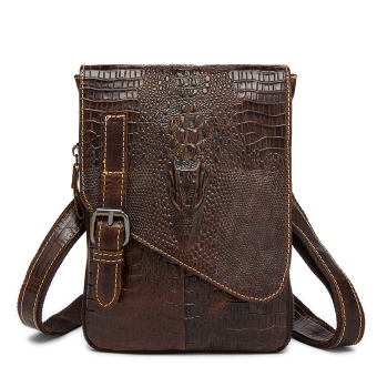 Crocodile Genuine Leather Vintage Men Business Messenger Bags Shoulder Bags - intl